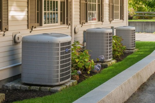 small resolution of new central air conditioning installation for both heat and air unit