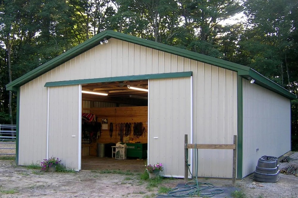 medium resolution of pole barn used for storage shed farming and horse supplies