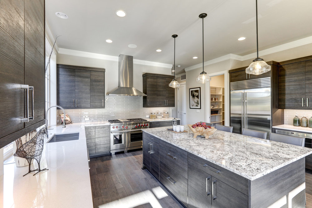 quartz kitchen countertops scratch resistant sinks 2019 countertop costs average prices per square foot brown and grey cabinets