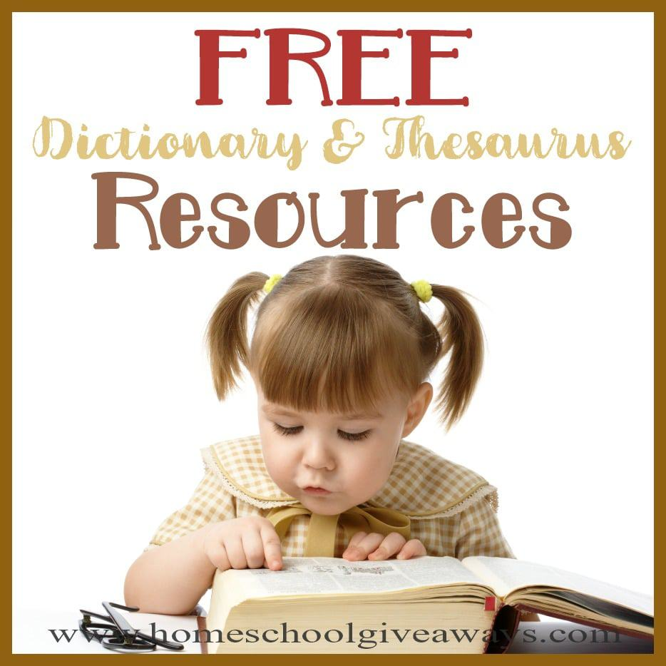 hight resolution of FREE Dictionary \u0026 Thesaurus Resources - Homeschool Giveaways