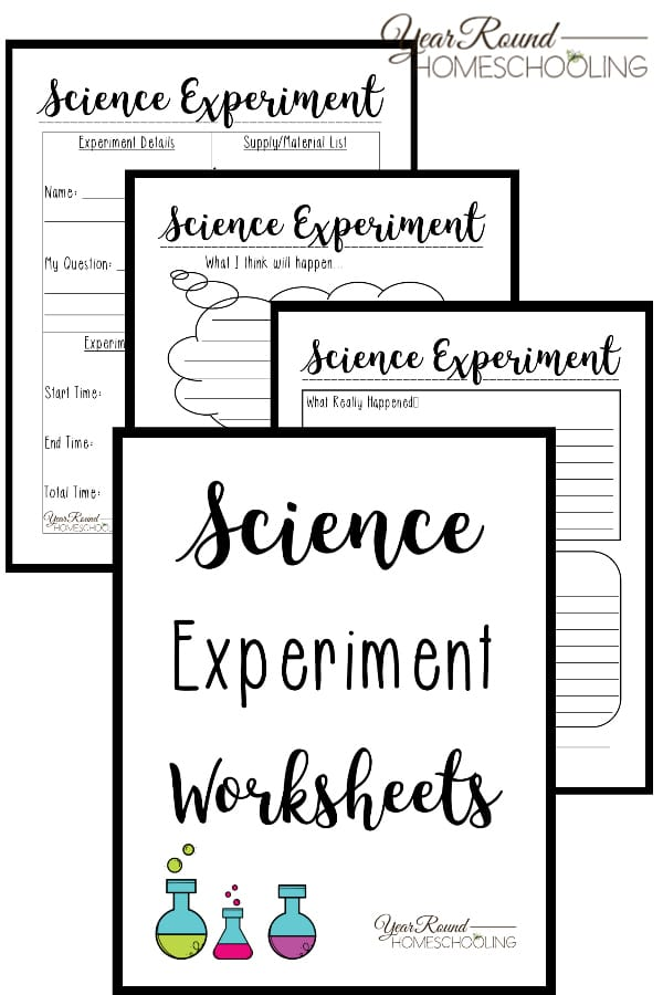 FREE Printable Worksheets for Science Experiments