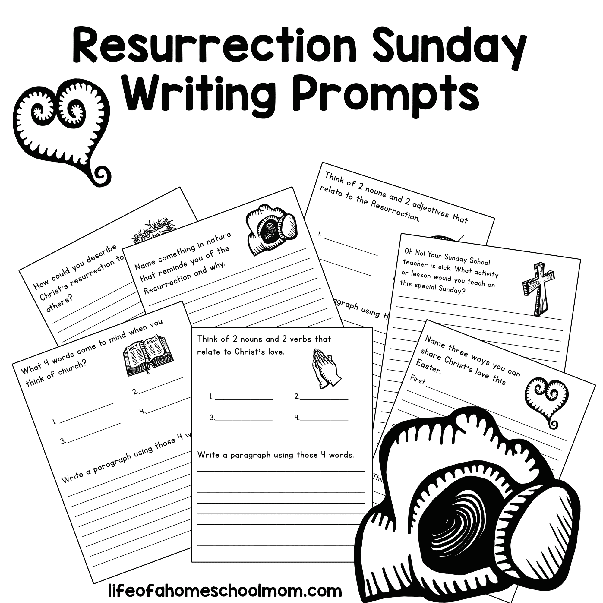 FREE Resurrection Day Writing Prompts for Kids