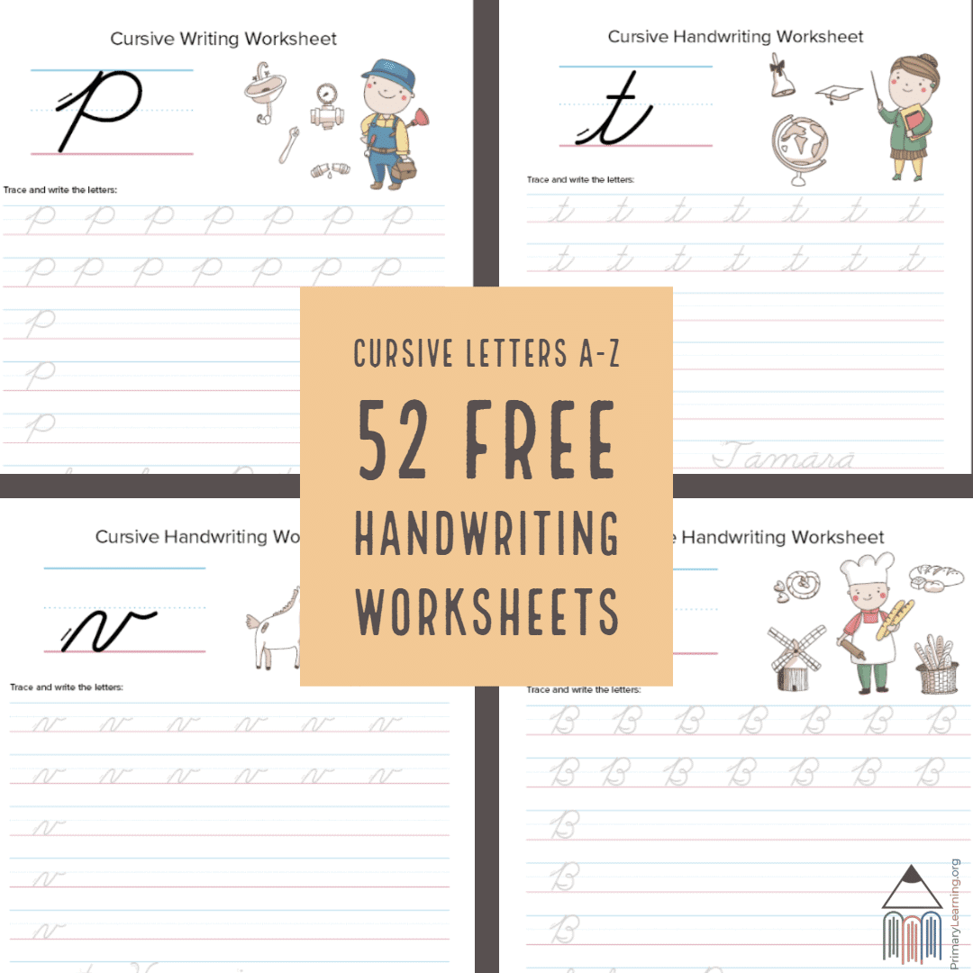 52 Free Cursive Handwriting Worksheets