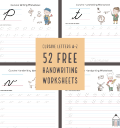 52 FREE Cursive Handwriting Worksheets - Homeschool Giveaways [ 1080 x 1080 Pixel ]