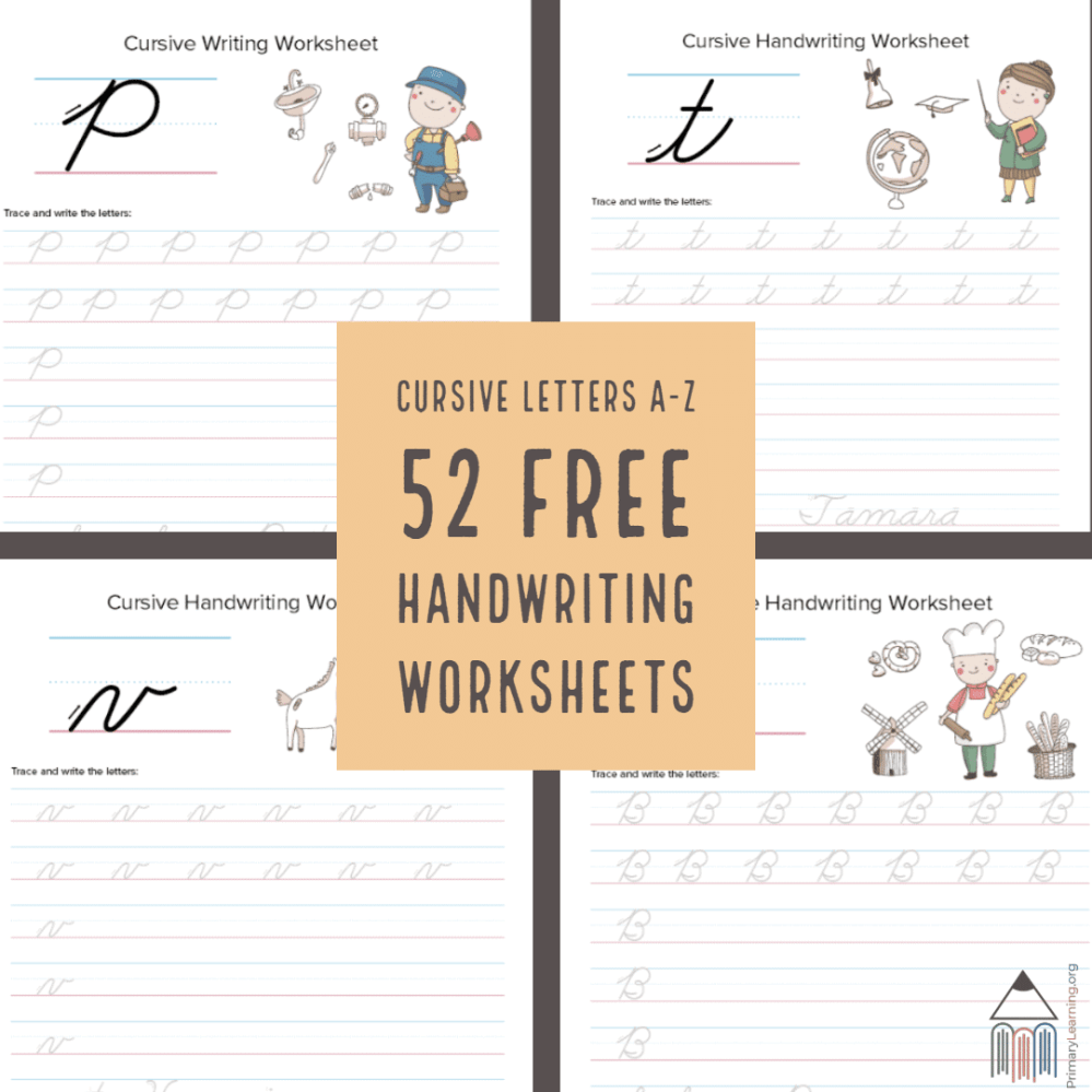 medium resolution of 52 FREE Cursive Handwriting Worksheets - Homeschool Giveaways