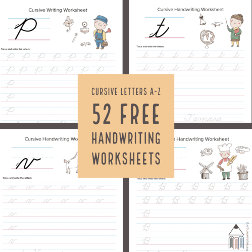 small resolution of 52 FREE Cursive Handwriting Worksheets - Homeschool Giveaways