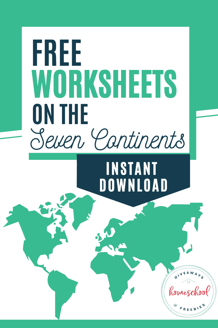medium resolution of FREE Worksheets on the Seven Continents - Homeschool Giveaways