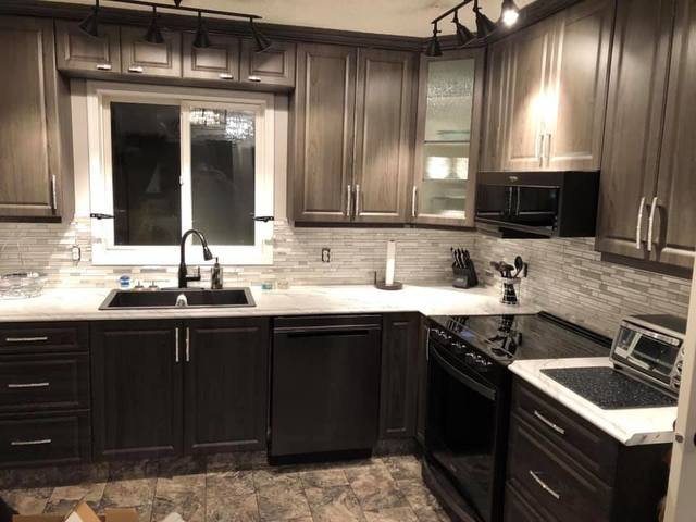 kitchen reface drop in stainless steel sinks magic bathroom cabinets design edmonton 2 days i was back to my new updated highly recommend everyone