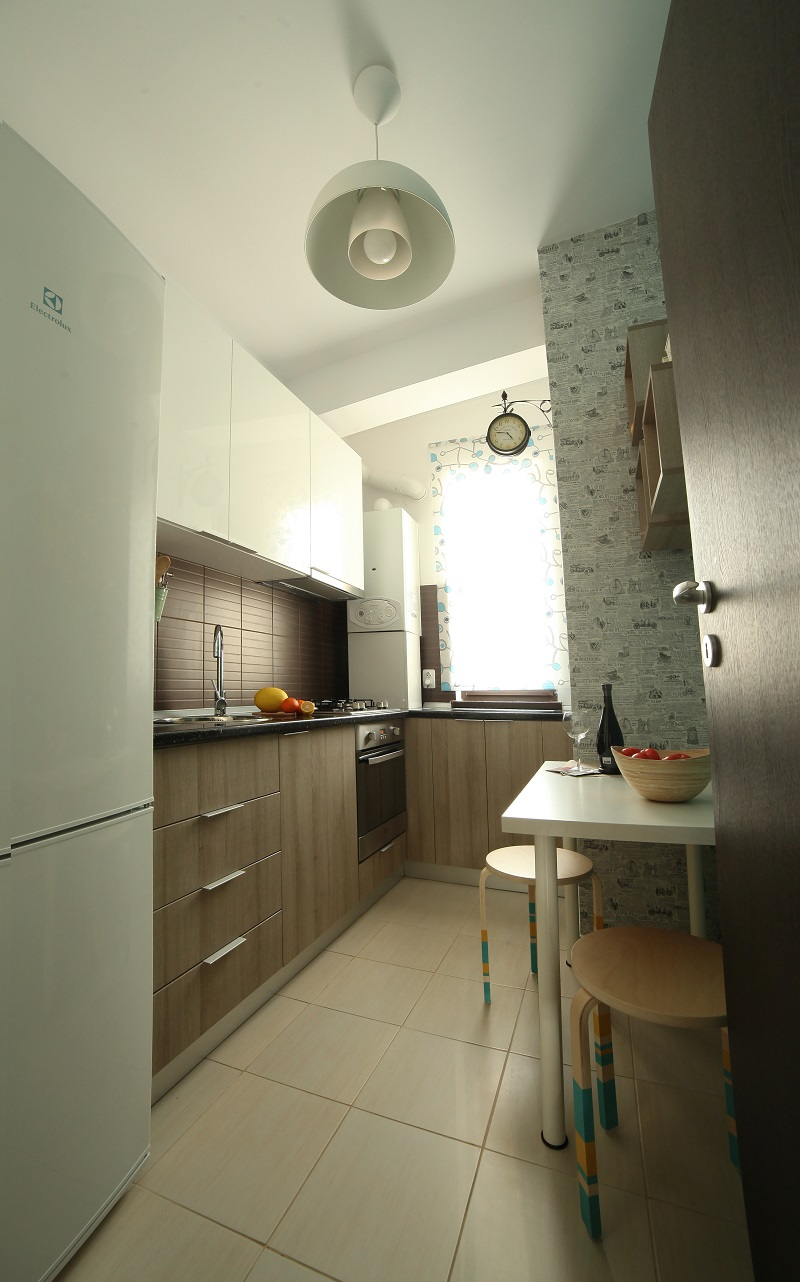 small kitchen ideas pictures floating island apartment interior design in bucharest, romania by ...