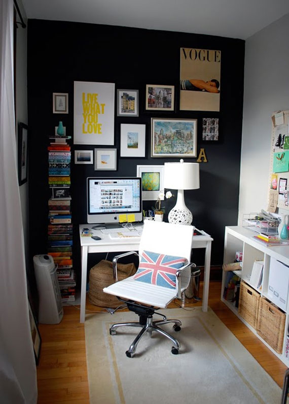 living room office broyhill furniture the black wall - a bold statement in interior design ...