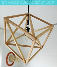 25 Beautiful DIY Wood Lamps And Chandeliers That Will ...