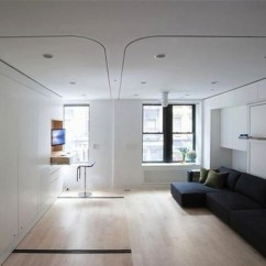 Kitchen Designs For Small Spaces Booth Tables The $1million Foldable Apartment-420-square-foot Studio ...