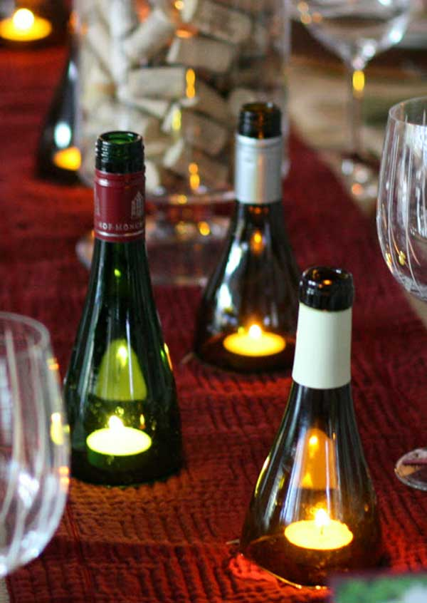 This Is A Stunning Idea Perfect For Winter Weddings These Are Wine Bottles That