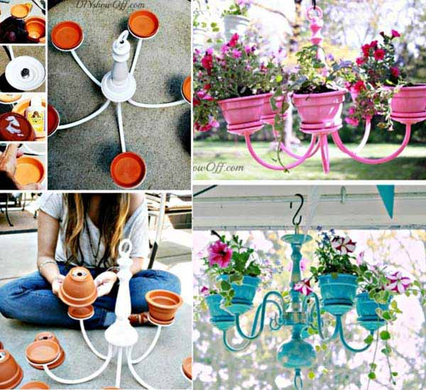 26 Beautiful Simple and Inexpensive Garden Projects Realized With Clay Pots homesthetics decor ideas (19)
