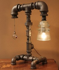 16 Sculptural Industrial DIY Pipe Lamp Design Ideas Able ...