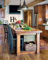 32 Super Neat and Inexpensive Rustic Kitchen Islands to ...
