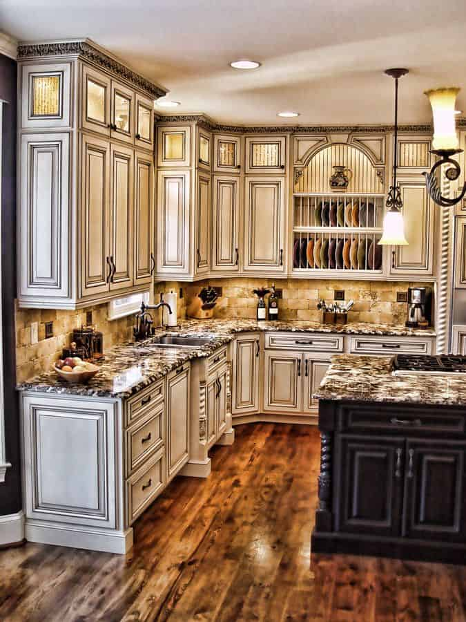 34 Gorgeous Kitchen Cabinets For An Elegant Interior Decor Part 1 Wooden Doors