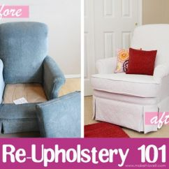 Diy Reupholster Living Room Chair Canvas Art For Before And After Reupholstering Furniture Ideas 16