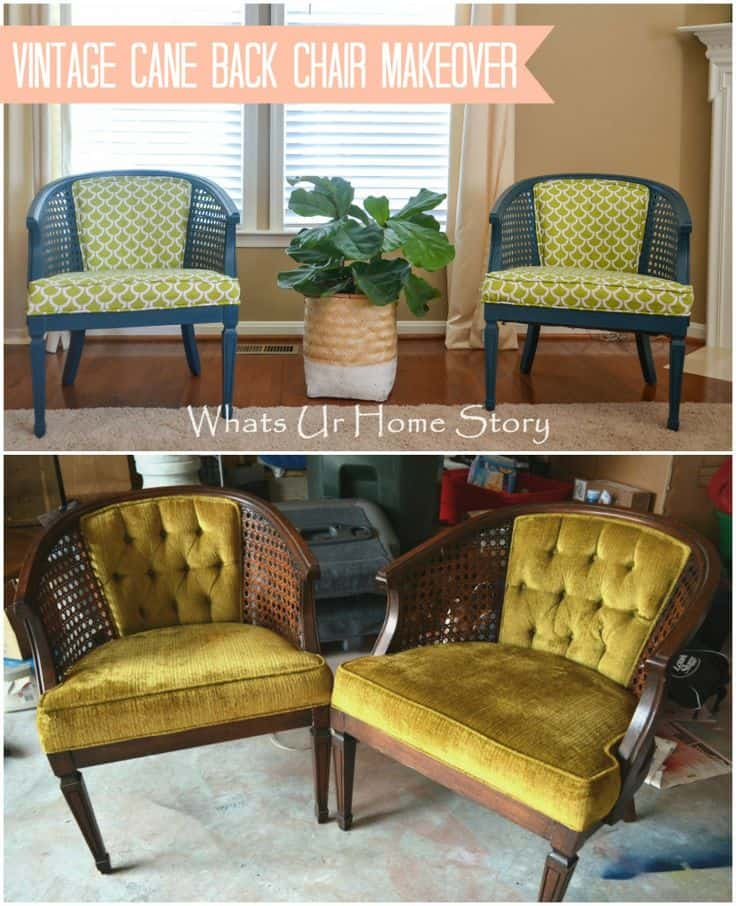 green upholstered dining chairs graco duodiner lx high chair instructions before and after diy reupholstering furniture ideas