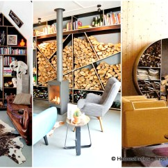 Living Room Firewood Holder Brown Paint 20 Stunning Storage Focal Points Their Magical Fireplaces