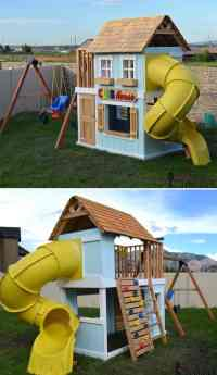 16 Creative Kids Wooden Playhouses Designs For Your Yard ...