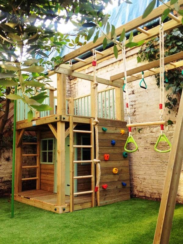 16 Creative Kids Wooden Playhouses Designs For Your Yard  Homesthetics  Inspiring ideas for