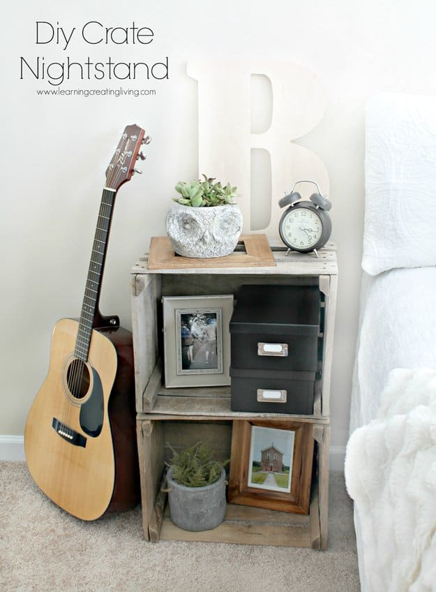 living room side table decorating ideas white leather couches 33 simply brilliant cheap diy nightstand ...