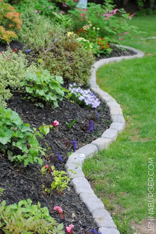 simple and cheap garden edging