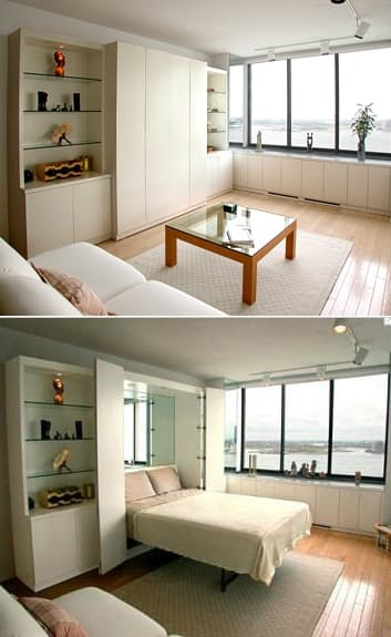 living room bed ideas metal wall decorations for 15 creative small beds spaces homesthetics net 11
