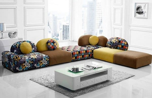 sofa designs for small living room india photos of curtains in rooms 27 splendidly comfortable floor level sofas to enjoy ...