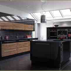 Kitchen Cabinet Materials Delta Faucet Cartridge Outstanding Black And Wood Kitchens That Will Add Style To