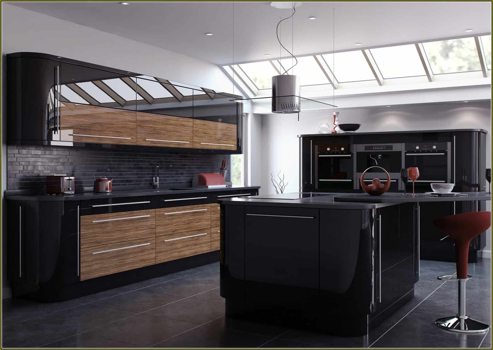 kitchen cabinet materials remodel cost outstanding black and wood kitchens that will add style to