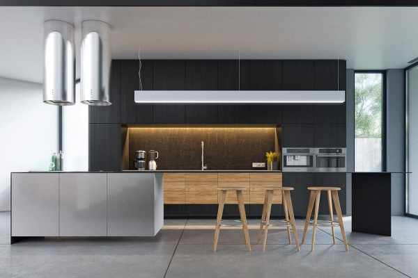 black and white wood kitchen design ideas Outstanding Black and Wood Kitchens That Will Add Style To Your Home | Homesthetics - Inspiring