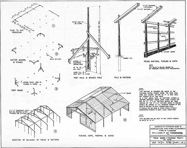 163 Free Pole Shed & Pole Barn Building Plans and Designs