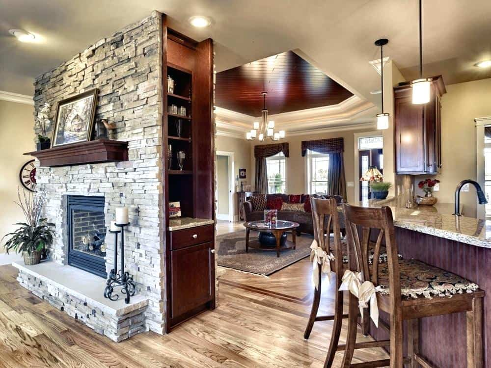 20 Functional DoubleSided Fireplaces For Your Spacious
