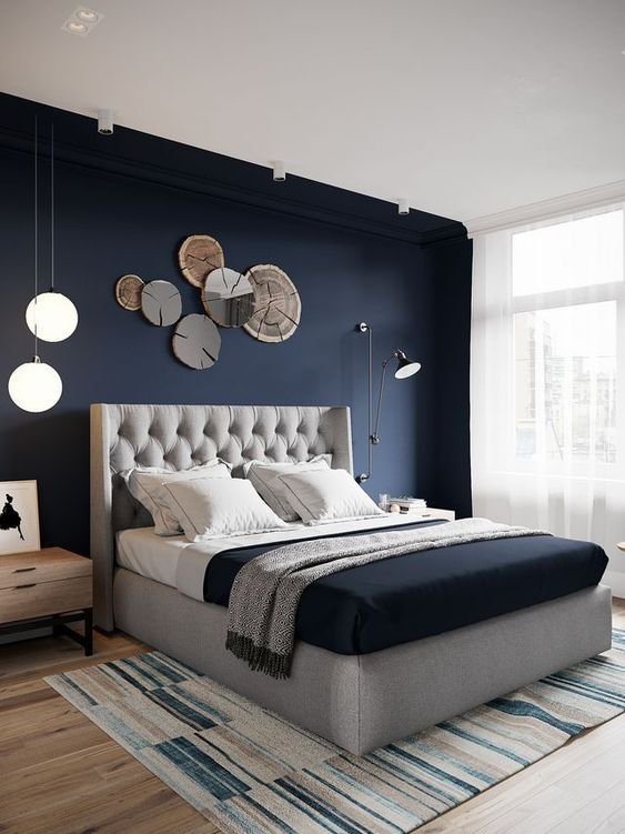 title | Navy And Light Blue Bedroom