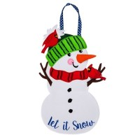 Let it Snow Felt Door Decor