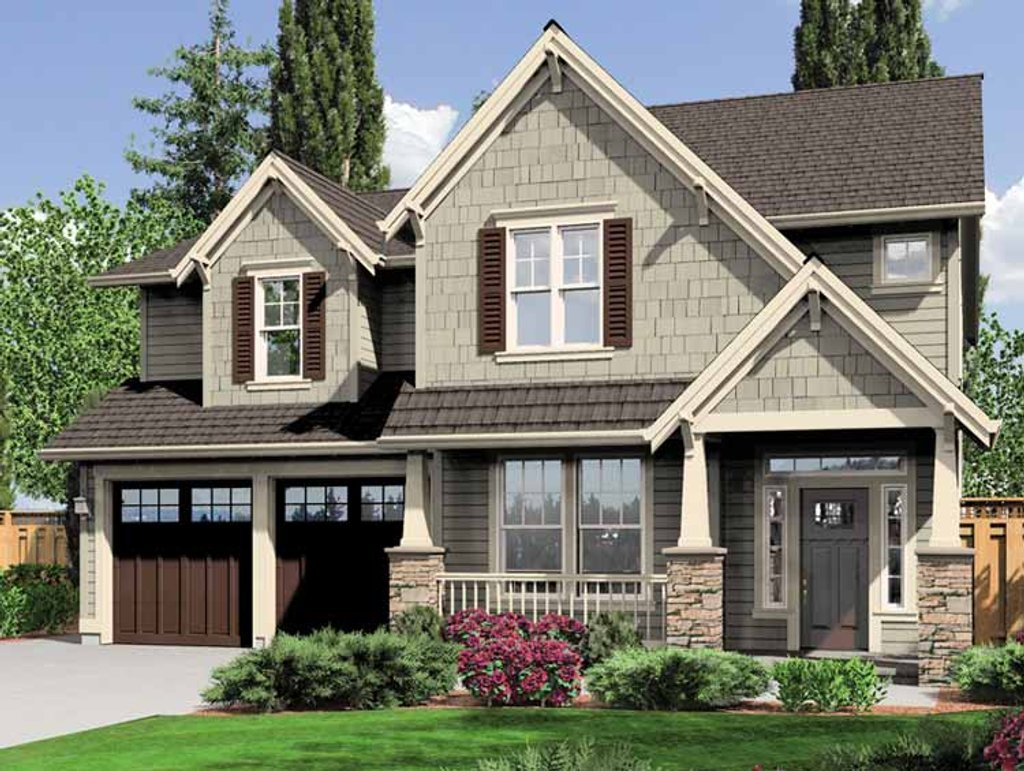 Craftsman Style House Plan  4 Beds 25 Baths 2470 SqFt Plan 96626  Dreamhomesourcecom