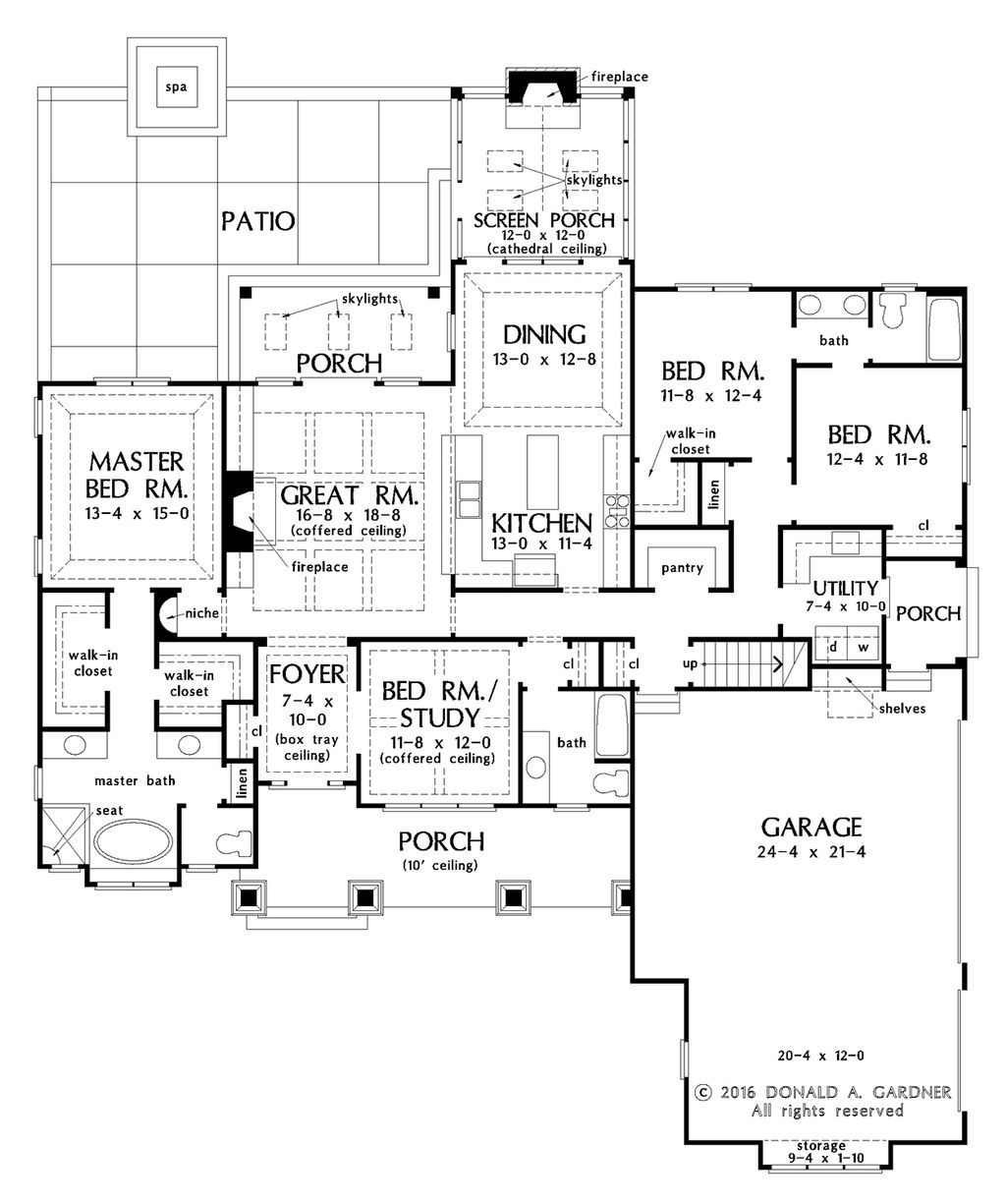 hight resolution of craftsman style house plan 4 beds 3 baths 2239 sq ft plan 929
