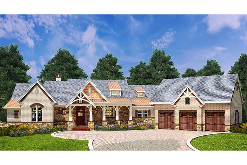 Craftsman Style House Plan - 3 Beds 3.5 Baths 2531 Sq/Ft ...