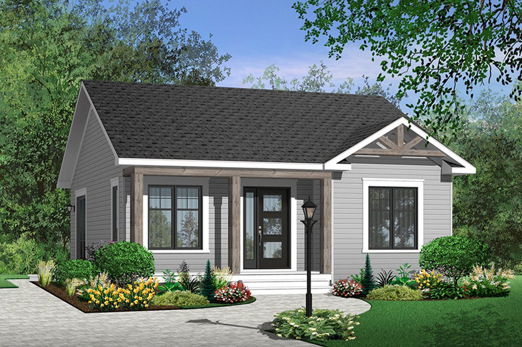 Cottage Style House Plan 2 Beds 1 Baths 835 Sq Ft Plan