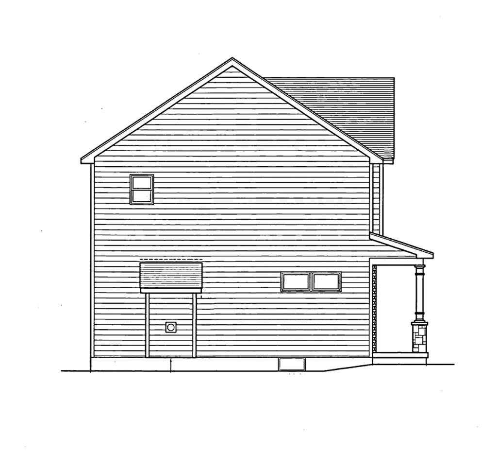 Colonial Style House Plan  3 Beds 25 Baths 1775 SqFt