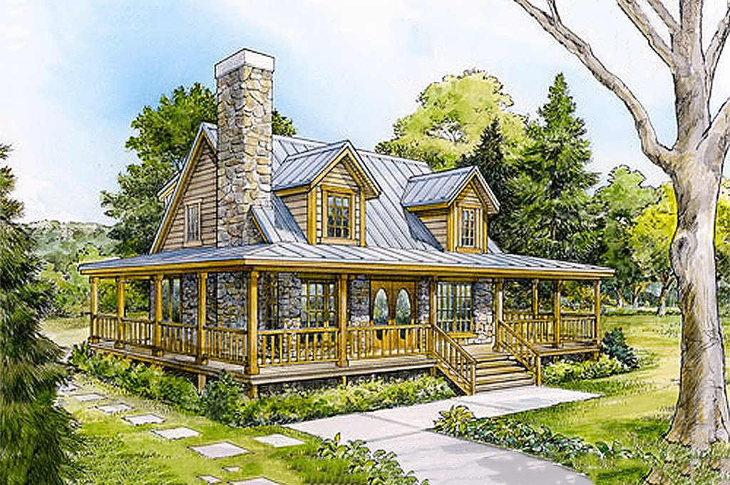 Cabin Style House Plan 3 Beds 2 Baths 1479 Sq Ft Plan