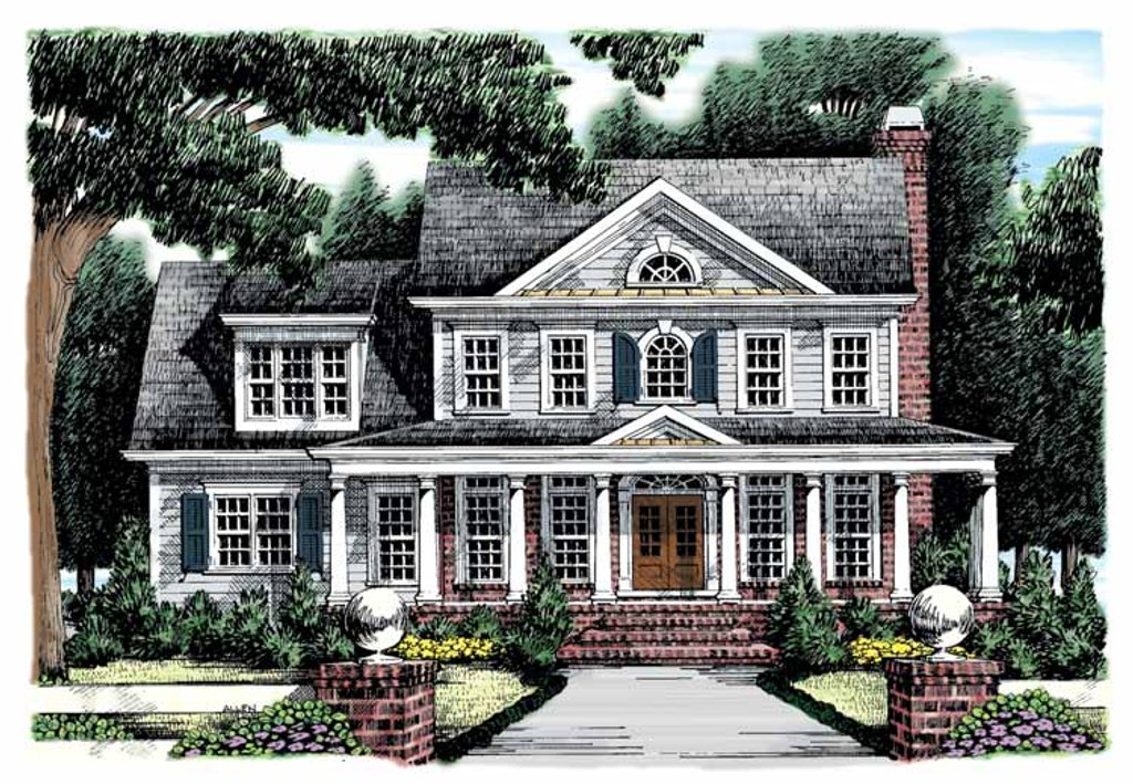 Classical Style House Plan  4 Beds 3 Baths 2426 SqFt
