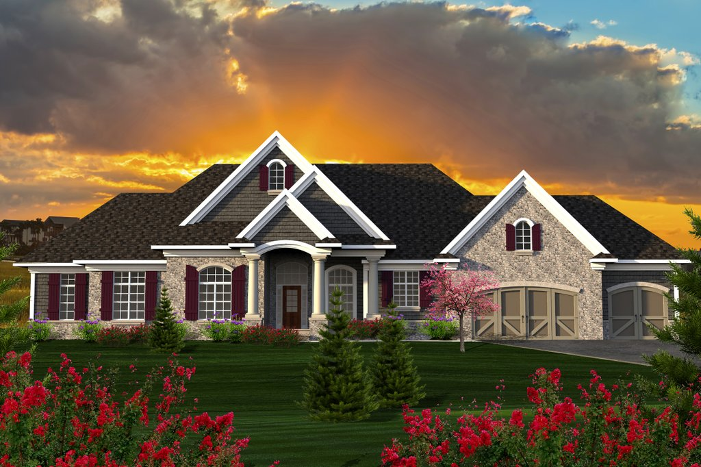 Ranch Style House Plan 3 Beds 2 5 Baths 2687 Sq Ft Plan