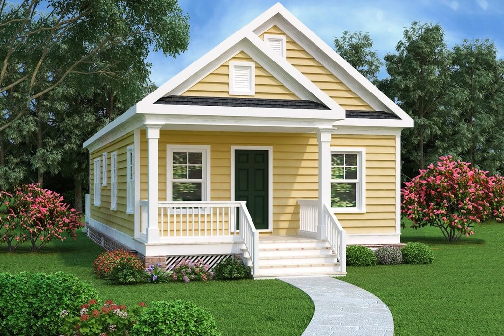 Cottage Style House Plan 2 Beds 1 Baths 966 Sq Ft Plan