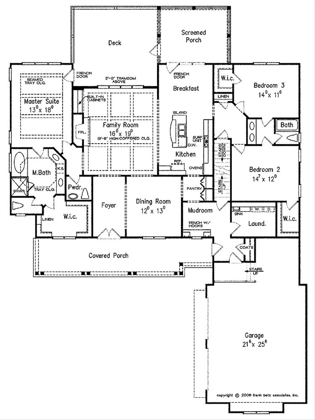 Craftsman Style House Plan 3 Beds 2 5 Baths 2325 Sq Ft