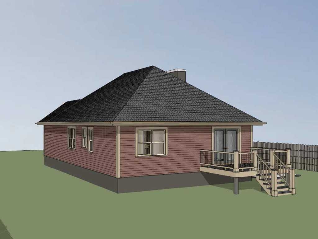 Traditional Style House Plan 3 Beds 2 Baths 1214 Sq Ft