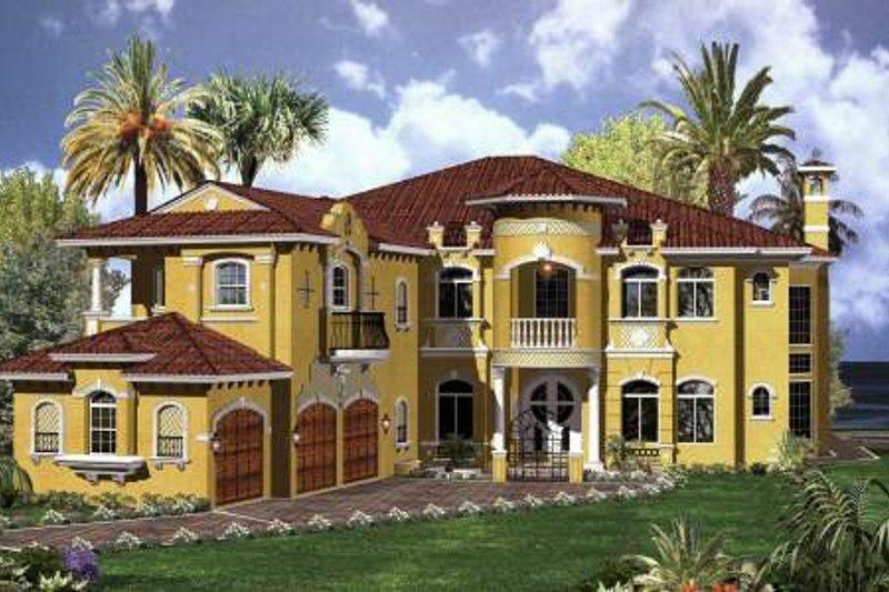 Mediterranean Style House Plan 6 Beds 7 5 Baths 6714 Sq