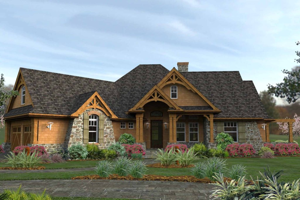 Craftsman Style House Plan 3 Beds 2 5 Baths 2091 Sq Ft Plan 120 162 Homeplans Com